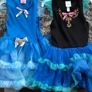 Other - Anna and Cinderella costumes size 4